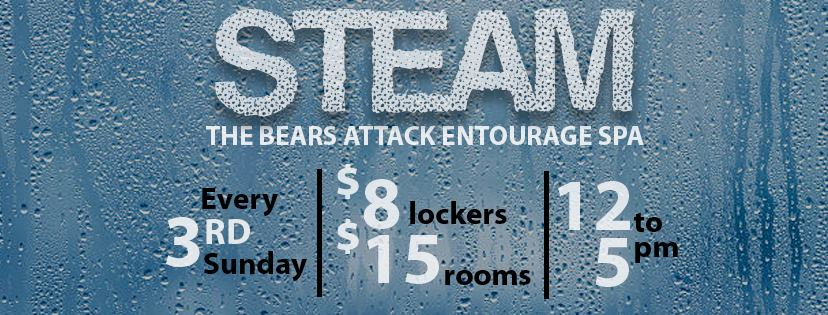 Steam; A Monthly Bear Event At Entourage Vegas Spa